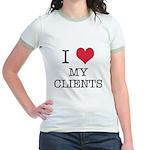 I Heart My Clients Jr. Ringer T-Shirt