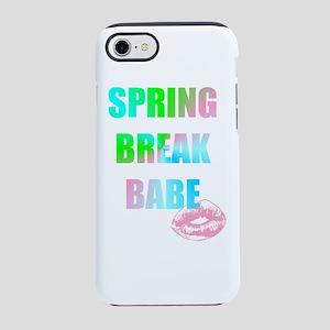 kiss spring break babe iPhone 7 Tough Case