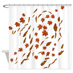 Golden Leaves Shower Curtains