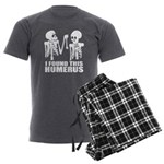I Found This Humerus Men's Charcoal Pajamas