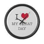 I Heart My Cheat Day Large Wall Clock