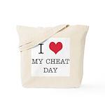 I Heart My Cheat Day Tote Bag