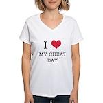 I Heart My Cheat Day Women's V-Neck T-Shirt