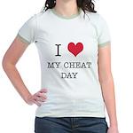I Heart My Cheat Day Jr. Ringer T-Shirt