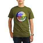 Autism Puzzle Jewel Organic Men's T-Shirt (dark)