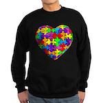 Jelly Puzzle Heart Sweatshirt (dark)