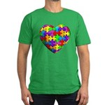 Jelly Puzzle Heart Men's Fitted T-Shirt (dark)