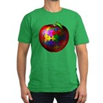 Puzzle Apple Men's Fitted T-Shirt (dark)