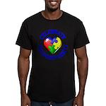 Teach Compassion Men's Fitted T-Shirt (dark)