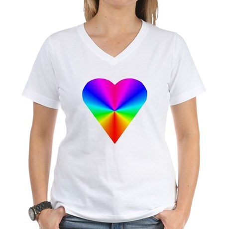Trippy Heart 7 Women's V-Neck T-Shirt