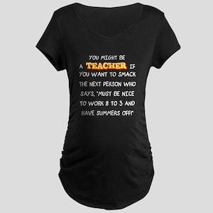 Smack the Next Person Maternity Dark T-Shirt