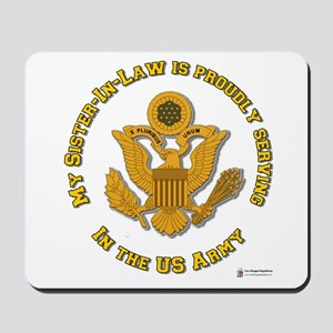 Army Sister-in-Law Gold Mousepad