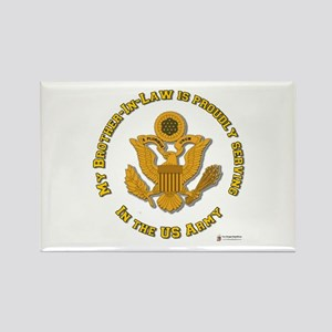 Army Brother-in-Law Gold Rectangle Magnet