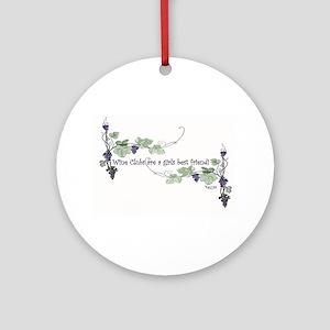Wine Club is a girls best friend Ornament (Round)