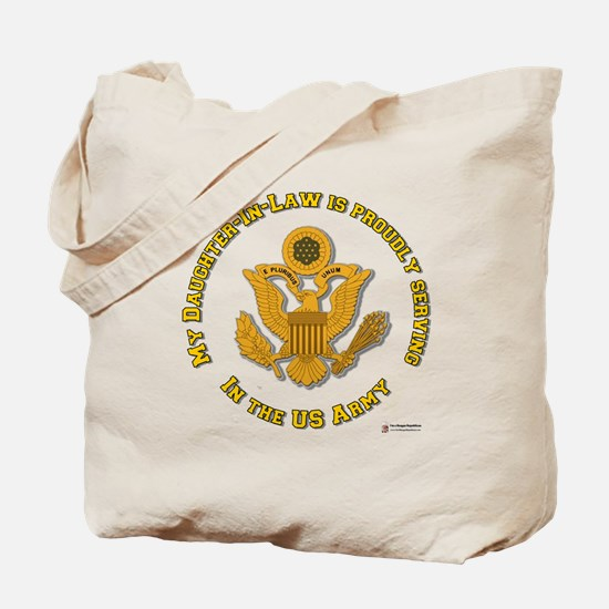 Army Daughter-in-Law Gold Tote Bag