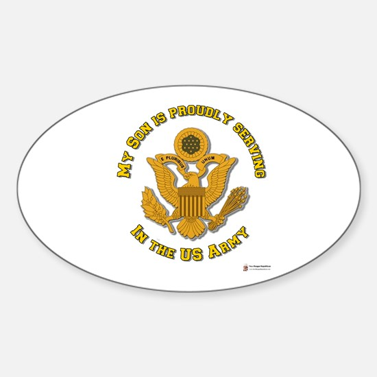 Army Son Gold Oval Decal