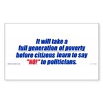 A generation of poverty Rectangle Sticker 10 pk)