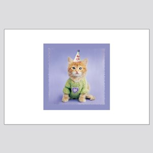 Party Cat Large Poster