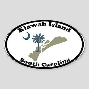 Kiawah Island SC Oval Sticker