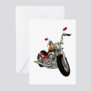 Red Motorcycle Greeting Cards (Pk of 10)
