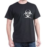 'biohazard' Black T-Shirt [pocket design]