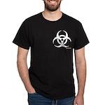 'biohazard' Black T-Shirt [pocket design]