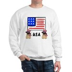 Patriotic USA Pug Dogs Sweatshirt