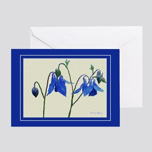 Blue Columbine Greeting Card