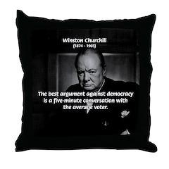 Sir Winston Churchill Throw Pillow