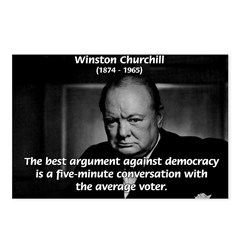 Sir Winston Churchill Postcards (Package of 8)