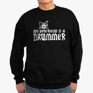 My Boyfriend is a Drummer Sweatshirt (dark)