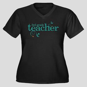3rd Grade Teacher Swirl Plus Size T-Shirt
