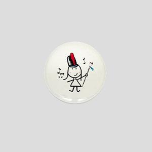 Girl & Drum Major Mini Button