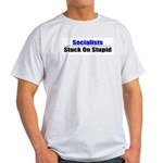 Socialists Stuck On Stupid Ash Grey T-Shirt