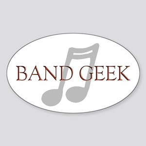 Band Geek Oval Sticker