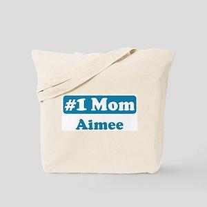 #1 Mom Aimee Tote Bag