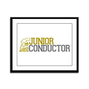 Junior Train Conductor Framed Panel Print