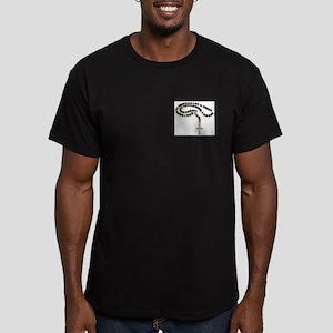 Padre Pio Men's Fitted T-Shirt (dark)