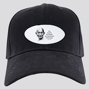 Gandhi - Be the Change Black Cap