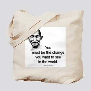 Gandhi - Be the Change Tote Bag
