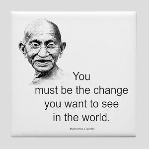 Gandhi - Be the Change Tile Coaster