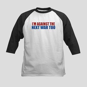 Against Next War Kids Baseball Jersey