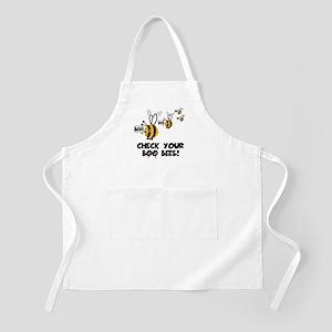 Funny spoof slogan boobies BBQ Apron