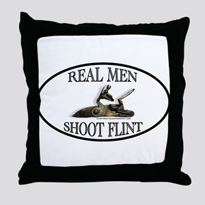 Real Men Shoot Flint Throw Pillow