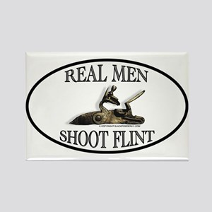 Real Men Shoot Flint Rectangle Magnet