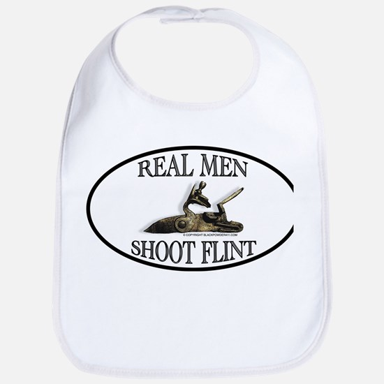 Real Men Shoot Flint Bib