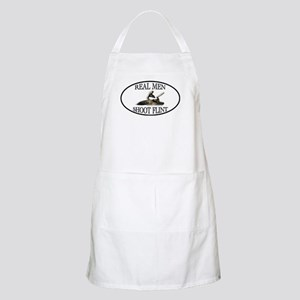 Real Men Shoot Flint BBQ Apron