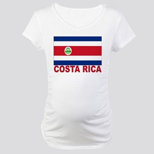 Costa Rica Flag Maternity T-Shirt