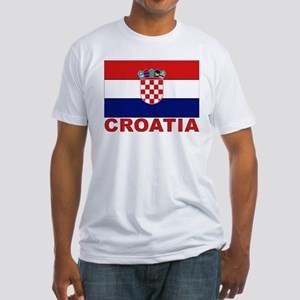 Croatia Flag Fitted T-Shirt