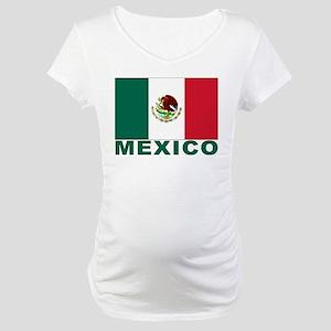 Mexico Flag Maternity T-Shirt